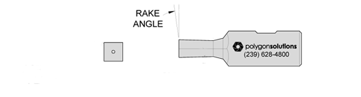 Square Rotary Broach Custom Rake Angle